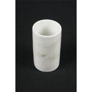 Zahnputzbecher, Marmor, Porzellan, Ø 6,5 cm