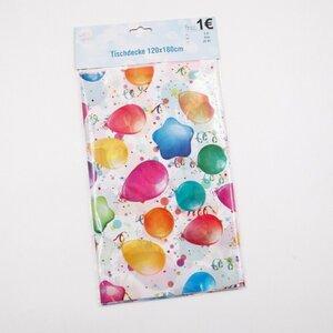 """Tischdecke """"Party"""" Ballon-Design, ca. 120 x 180 cm, Kunststoff"""