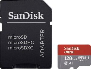 SanDisk Ultra® microSDXC-Karte 128 GB Class 10, UHS-I A1-Leistungsstandard, inkl. Android-Software, inkl. SD-Adapter