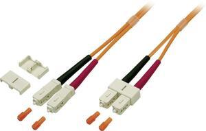 EFB Elektronik O6413.1 Glasfaser LWL Anschlusskabel [1x SC-Stecker - 1x SC-Stecker] 50/125 µ Multimode OM2 1.00 m