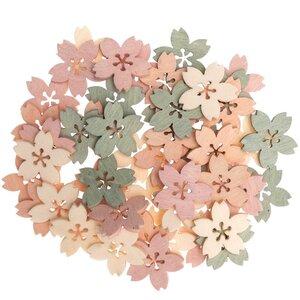 Ohhh! Lovely! Holzstreu Blüte pastell Mix 48 Stück