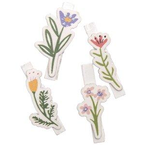 Ohhh! Lovely! Dekoklammern Blumen Mix weiß 4 Stück