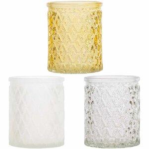 Teelichtglas 7,5x6,3cm 3 Stück