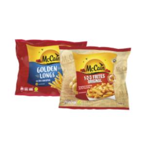 Mc Cain 1-2-3 Frites Original, Golden Longs oder Frites Deluxe