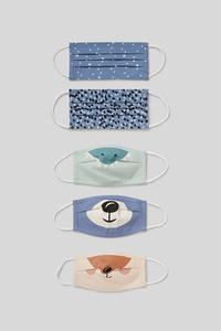 C&A Kinder Mund-und Nasenmaske-5er Pack, Beige, Größe: 1 size