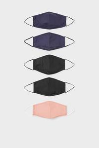 C&A Mund-und Nasenmaske-5er Pack, Weiß, Größe: 1 size