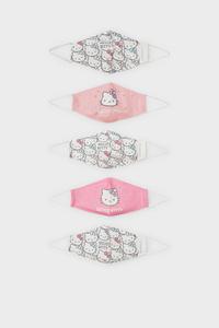 C&A Hello Kitty-Kinder Mund-und Nasenmaske-5er Pack, Weiß, Größe: 1 size