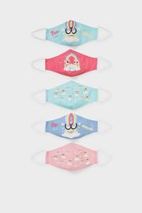 C&A Minions-Kinder Mund-und Nasenmaske-5er Pack, Bunt, Größe: 1 size