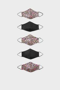 C&A Kinder Mund-und Nasenmaske-5er Pack, Schwarz, Größe: 1 size