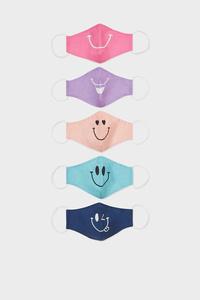 C&A Kinder Mund-und Nasenmaske-5er Pack, Orange, Größe: 1 size