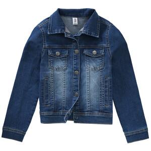 Mädchen Jeansjacke mit Used-Effekt