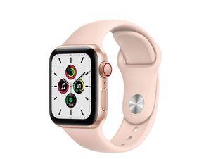 Apple Watch SE, GPS & Cellular, 40 mm, Aluminium, gold, Sportarmband sandrosa