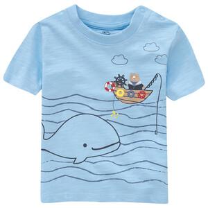 Baby T-Shirt mit Flammgarn