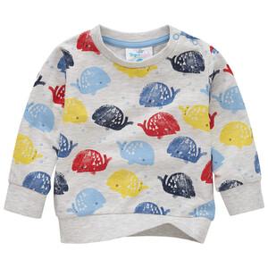 Baby Sweatshirt mit Wal-Allover