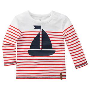 Baby Langarmshirt mit Segelboot-Print