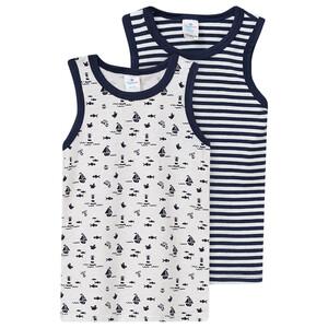 2 Baby Unterhemden in verschiedenen Dessins