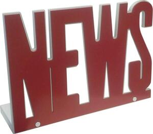 Zeitungsständer NEWS in Rot/Weiß
