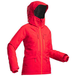 Skijacke Freeride 500 Damen rot