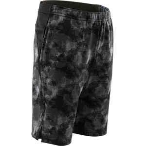 Shorts kurz Synthetik atmungsaktiv S500 Gym Kinder schwarz mit Print