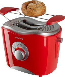 Privileg Toaster 747566, 2 kurze Schlitze, für 2 Scheiben, 860 W, rot
