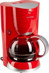 Privileg Filterkaffeemaschine 747528, 1,37l Kaffeekanne, Papierfilter 1x4, Max. 1080 Watt, rot