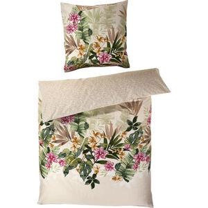 Kaeppel Satin-Bettwäsche, Floral, Seidenglanz