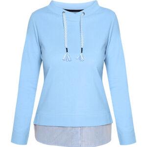 Adagio Sweatshirt, Tunnelzug, Bluseneinsatz, uni, für Damen