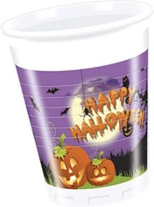 Partybecher Happy Spooky Halloween 200 ml, 8 Stück