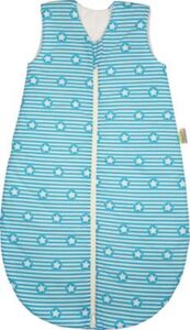 Basic Schlafsack, wattiert, stripes and stars türkis, 90