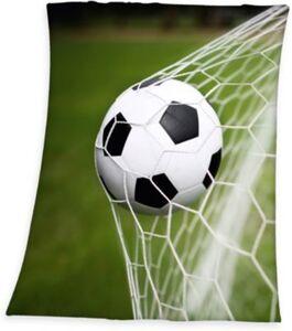 Fleece-Decke Fußball, 130x160 cm
