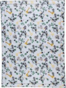 Krabbeldecke 100x135 cm Jungle grün/gelb
