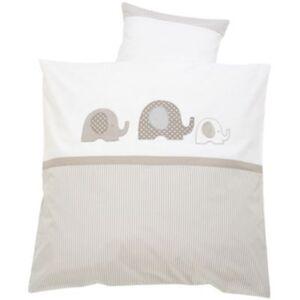 Babybettwäsche Elefant, taupe, 80 x 80 + 35 x 40 cm beige
