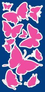 Wandsticker Leucht-Schmetterlinge, 46-tlg. mehrfarbig