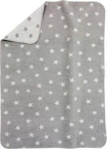 Babydecke mit UV-Schutz, Baumwolle, Sterne grau, 75 x 100 cm