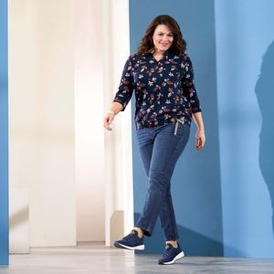 Damen-Jeans mit Waschungen, große Größen