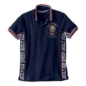 Herren-Poloshirt in Rennfahrer-Design