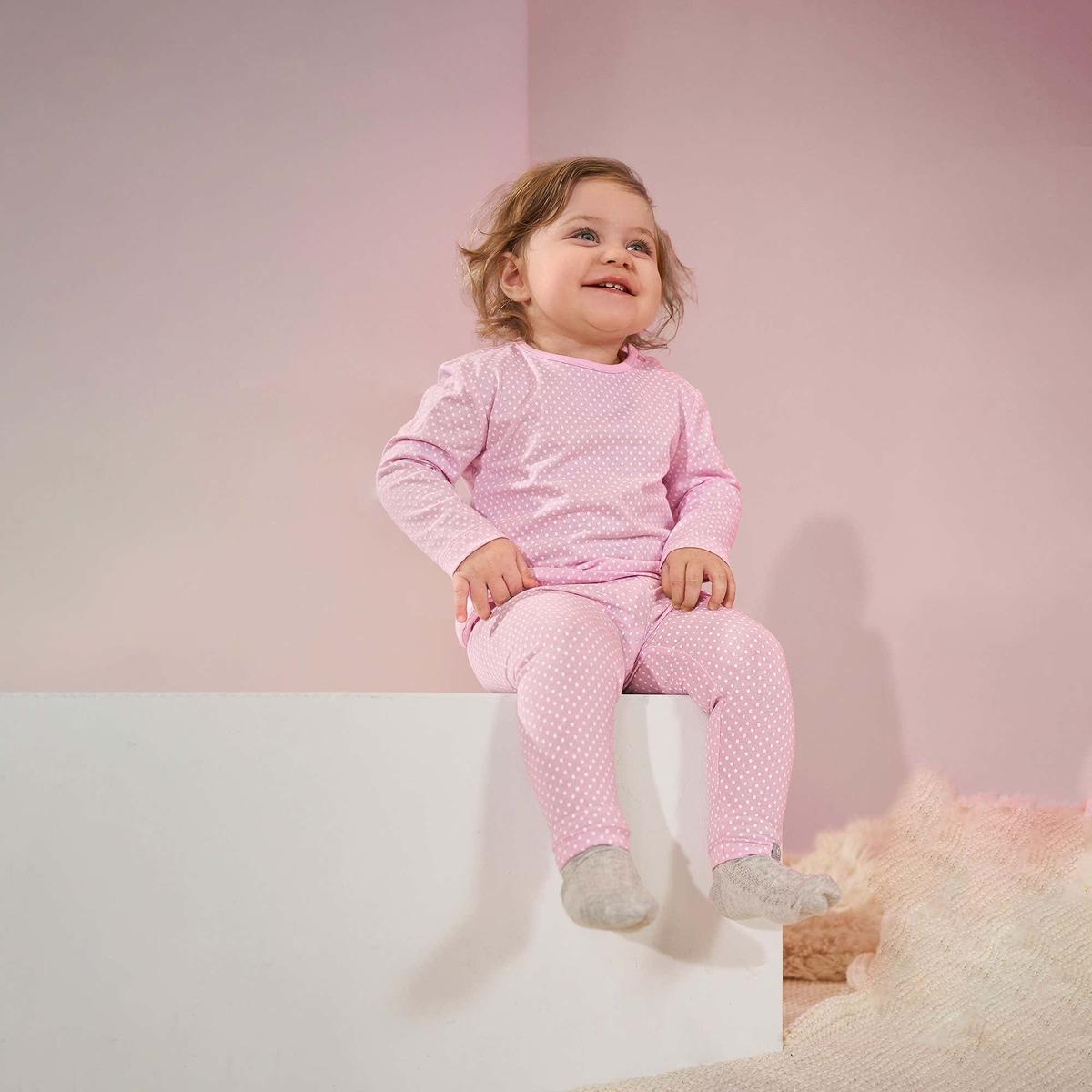 Bild 1 von Baby-Mädchen-Leggings mit Punkten, 2er-Set