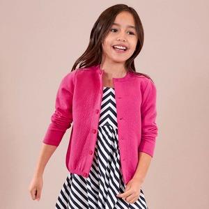 Kinder-Mädchen-Jacke in Strick-Optik