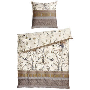 Bassetti Bettwäsche makosatin creme , Fong 49803 , Textil , Floral , 155x220 cm , Makosatin , 005639009305