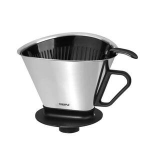 Gefu Kaffeefilterhalter , 16000 , Schwarz, Edelstahlfarben , Metall, Kunststoff , 0054300049
