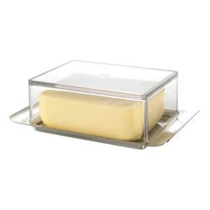 Gefu Butterdose metall, kunststoff , 33620 , Transparent , 11x6x16.7 cm , 0054300123