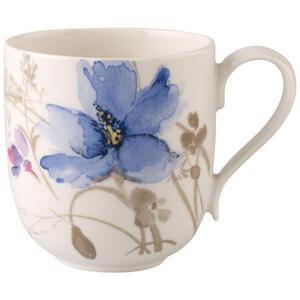 Villeroy & Boch Kaffeebecher , 1041049651 , Multicolor, Weiß , Keramik , Blume , 350 ml , bedruckt , hitzebeständig , 003407020414