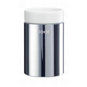 Joop! Mundspülbecher , 010030010 Joop! Chromeline , Weiß, Chromfarben , Metall, Keramik , 11.5 cm , verchromt,glänzend , 007645007503