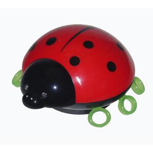 XXXLutz Kinder-nachtlicht , 80019 Beetlestar , Rot, Schwarz , Kunststoff , 8 cm , Farbwechsler, 3 Helligkeitsstufen, Touch-Schalter (on/off), Sternenhimmel , 005448001301