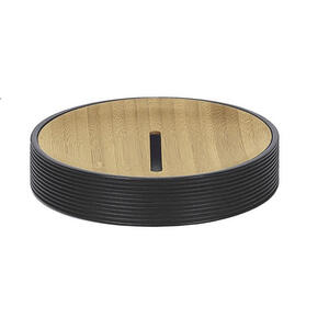 Kleine Wolke Seifenschale , Kyoto 5079 926 853 , Schwarz, Hellbraun , Holz, Kunststoff , Bambus , 2.5x11.6 cm , 003342043501