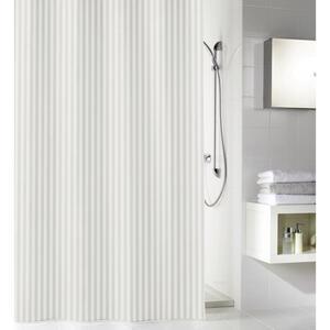 Kleine Wolke Duschvorhang weiß , Sanna , Textil , Streifen , 180x200 cm , wasserabweisend , 003342050301
