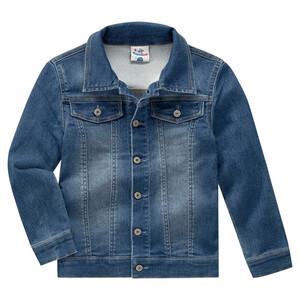 Jungen Jeansjacke mit leichten Used-Effekten