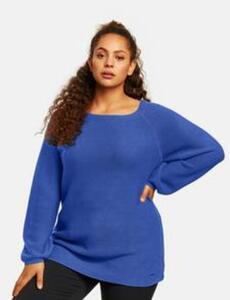 Pullover mit Ballonärmeln Blau 44/L