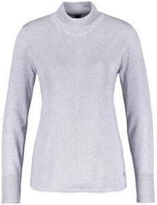 Pullover mit diagonaler Rippe Grau 46/L