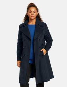Mantel mit zweifacher Knopfleiste Blau 48/XL
